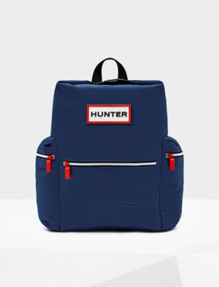 Hunter Original Topclip Nylon Backpack Peak Blue
