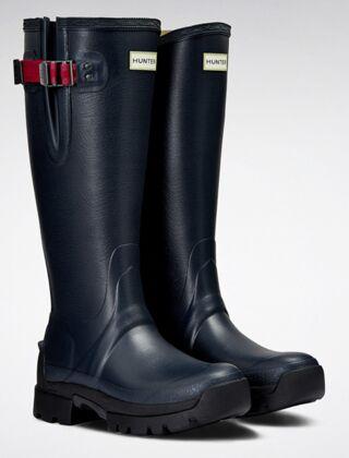 Hunter Women's Balmoral Side Adj 3mm Neo Boot Navy/Peppercorn