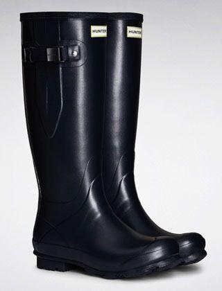 Hunter Women's Norris Field Side Adjustable Boot Navy