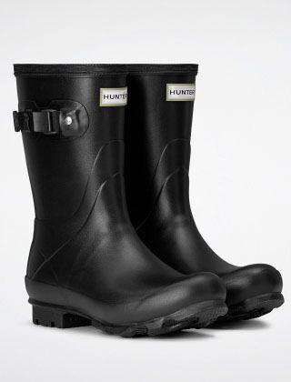 Hunter Women's Norris Short Boots Black