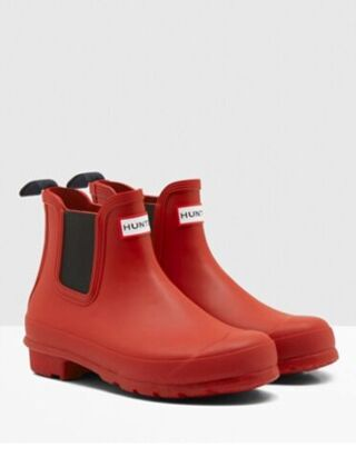 Hunter Women's Original Chelsea Boots Military Red