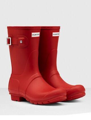 Hunter Women's Original Short Boot Military Red