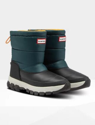Hunter Women's Original Short Snow Boot Green Jasper/Geysers