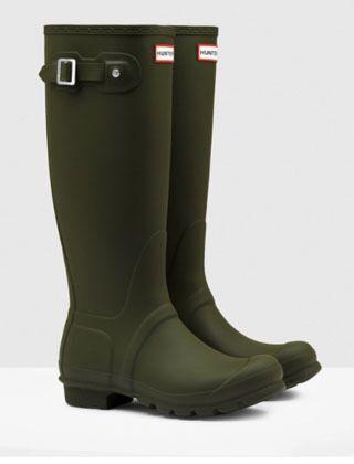 Hunter Women's Original Tall Boot Dark Olive