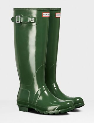 Hunter Women's Original Tall Gloss Boot Hunter Green