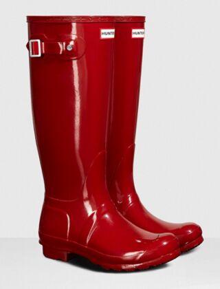 Hunter Women's Original Tall Gloss Boot Military Red