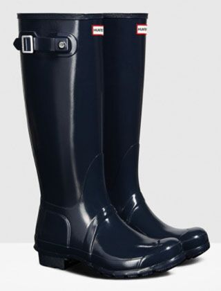 Hunter Women's Original Tall Gloss Boot Navy
