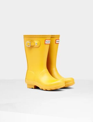 Hunter Kids Original Wellington Boots Yellow
