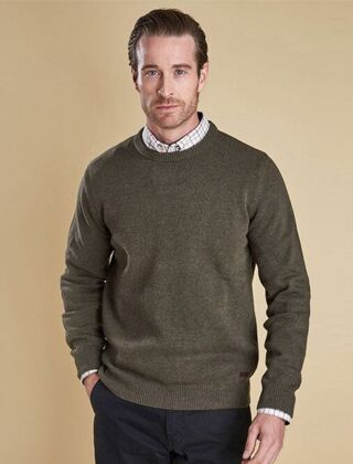 Barbour Nelson Essential Crew Jumper Seaweed