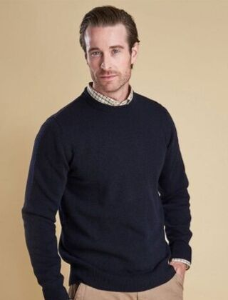 Barbour Nelson Essential Crew Jumper Navy