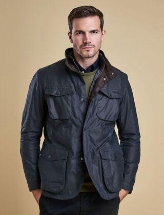 Barbour Ogston Wax Jacket Navy