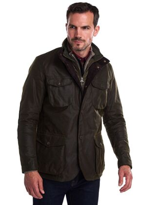 Barbour Ogston Wax Jacket Olive