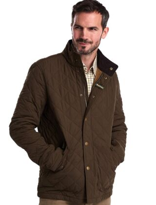Barbour Shoveler Quilted Jacket Olive