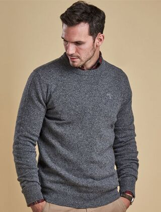 Barbour Tisbury Crew Neck Jumper Grey
