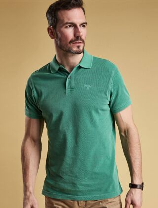 Barbour Washed Sports Polo Shirt Green