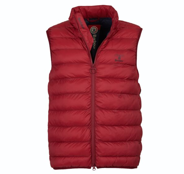 Barbour Askham Quilted Gilet Bicycle Red