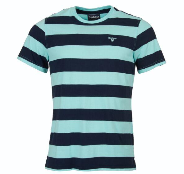 Barbour Bass Stripe T-Shirt Aqua Marine
