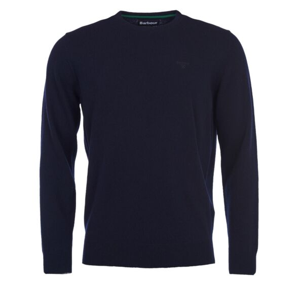 Barbour Essential Lambswool Crew Neck Jumper Navy