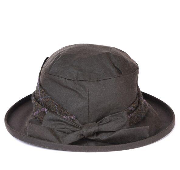 Barbour Wax Tweed Brimmed Hat Olive