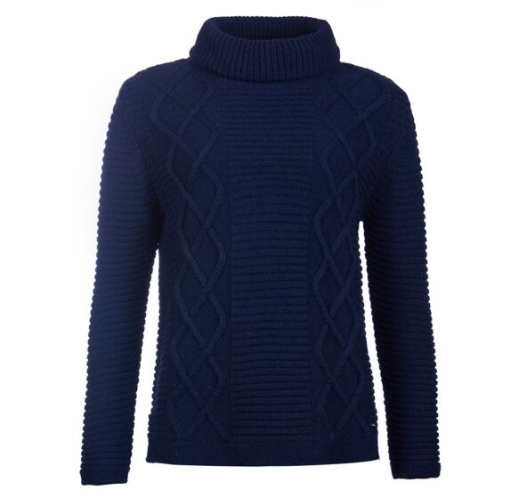 Barbour Court Roll Collar Sweater Navy