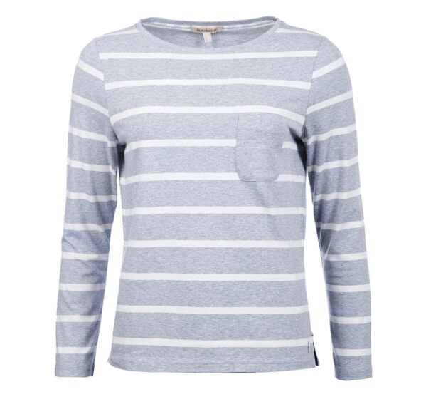 Barbour Beachley Top Light Grey Marl