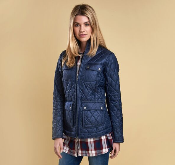 Barbour Filey Quilt Jacket Navy