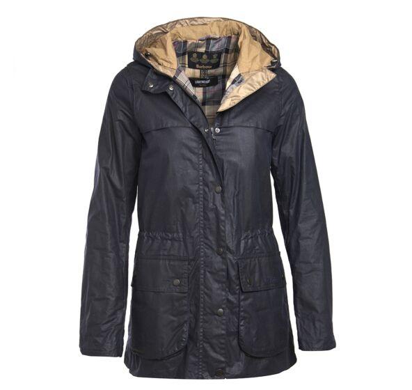 Barbour 4oz Lightweight Durham Wax Jacket Royal Navy