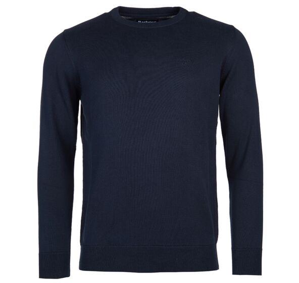 Barbour Pima Cotton Crew Neck Sweater Navy