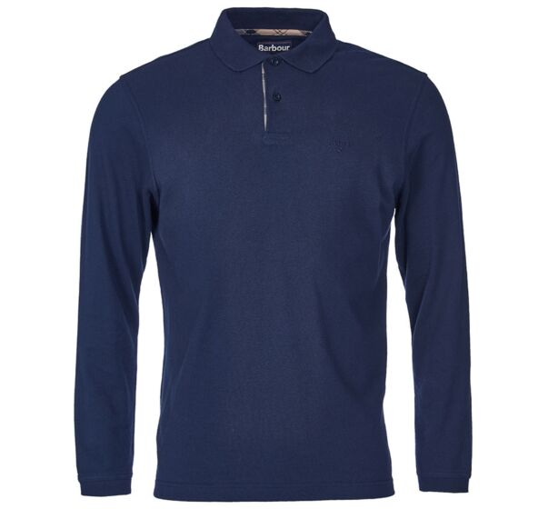 Barbour Long Sleeve Sports Polo Top Navy