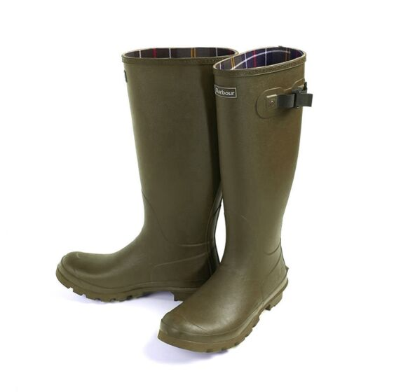 Barbour Mens Bede Wellington Boots Olive