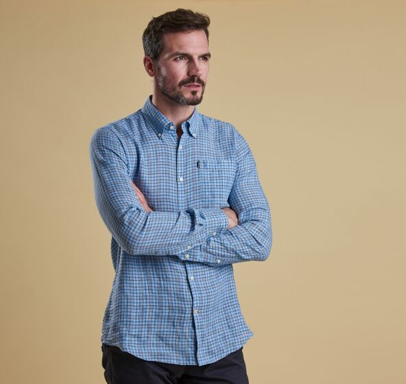 Barbour Felix Tailored Shirt Blue