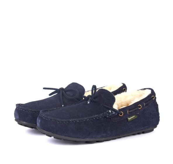 Barbour Mens Halom Slippers Navy