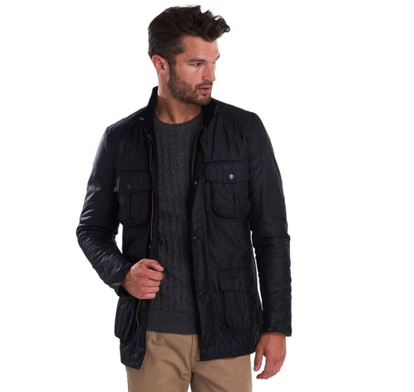 Barbour Corbridge Waxed Jacket Black