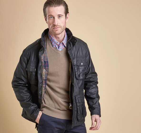Barbour Utility Wax Jacket Black