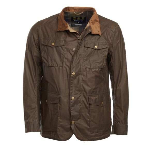 Barbour 4oz Lightweight Ogston Waxed Jacket Brown