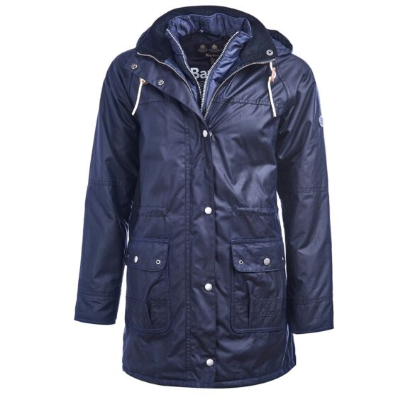 Barbour Seaton Wax Jacket Royal Navy