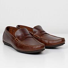 Loake Goodwood Moccasin Shoe Brown