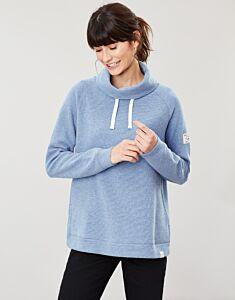 Joules Nadia Ribbed Sweatshirt Blue Marl