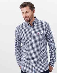 Joules Abbott Classic Fit Long Sleeve Shirt Blue White Check