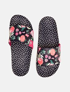 Joules Poolside Printed Sandals Navy Tutti Fruty