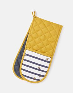 Joules Double Oven Glove Bee Stripe