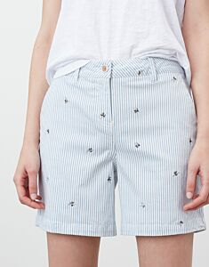 Joules Cruise Mid Thigh Shorts Blue Bee Stripe