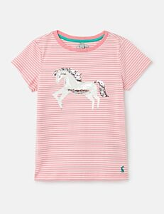 Joules Paige Squishy Artwork Top Pink Unicorn