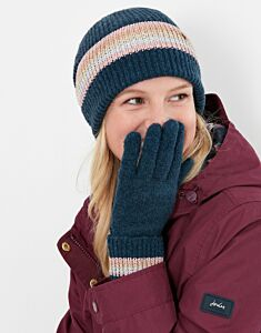 Joules Vinnie Knitted Hats French Navy