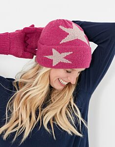 Joules Vinnie Knitted Hats Ruby Pink