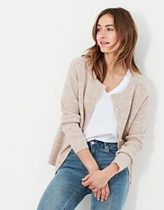 Joules Rosy Reversible Button Up Cardigan Oat