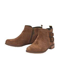 Barbour Sarah Low Buckle Boot Caramel Suede