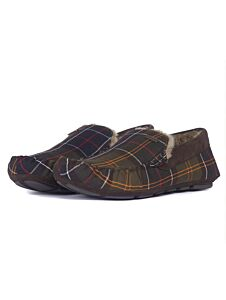 Barbour Monty Moccasin Slippers Recycled Classic Tartan