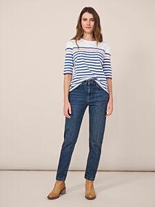 White Stuff Relaxed Slim Jeans Mid Denim