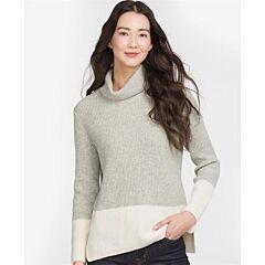 Barbour Woman's Dipton Roll Collar jumper Grey
